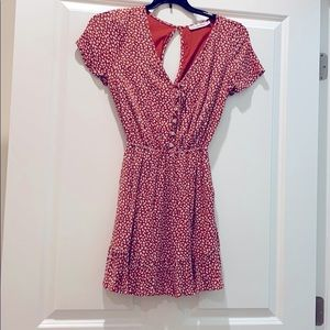 Rust Abercrombie and Fitch short sleeve dress